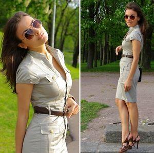 H&M Safari Dress in Gray